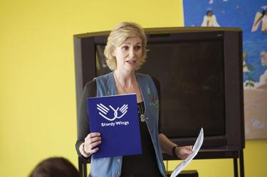 Jane Lynch as Sweeny in &quot;Role Models.&quot;